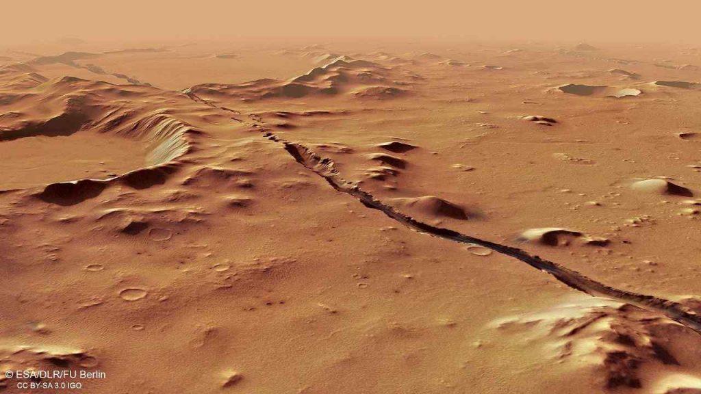 Terremoti Marte (Foto Esa)