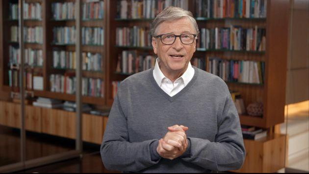 Test covid salivare finanziato da Bill Gates (Foto Huffington Post)