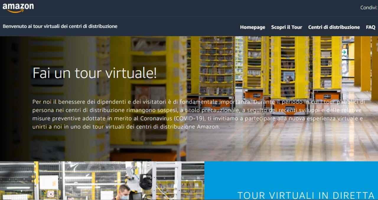 Al via i tour virtuali di Amazon