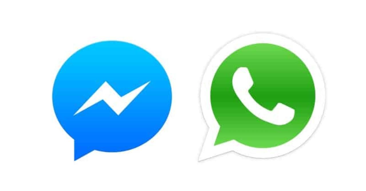 WhatsApp e Messenger, i due loghi