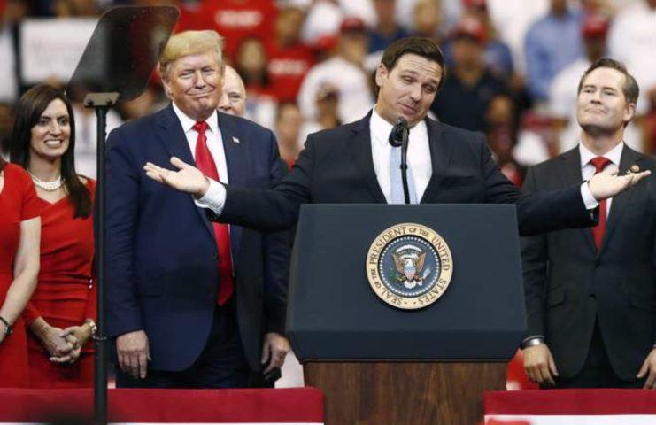 Florida Legge Social Trump e Ron DeSantis