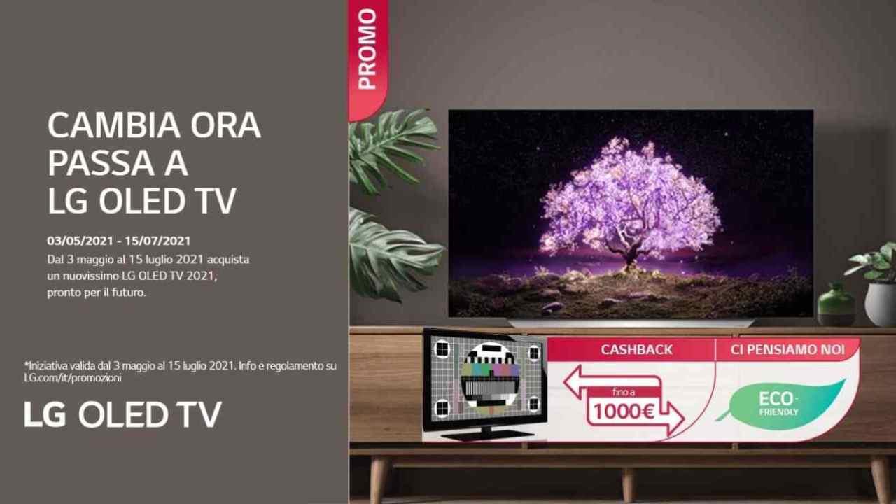 Arriva il Cashback LG sui TV OLED, puoi ricevere un rimborso fino a 1000 euro