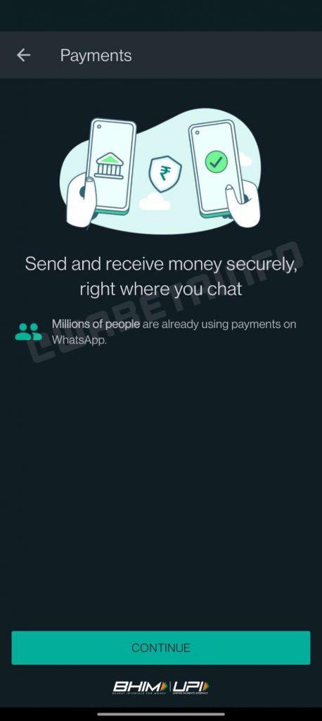 WhatsApp introduce il sistema di pagamento