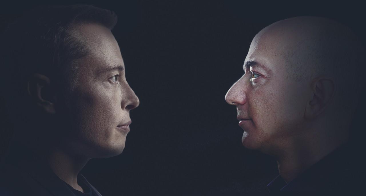 Bezos e Musk, SpaceX vs Blue Origin (Foto Forbes)