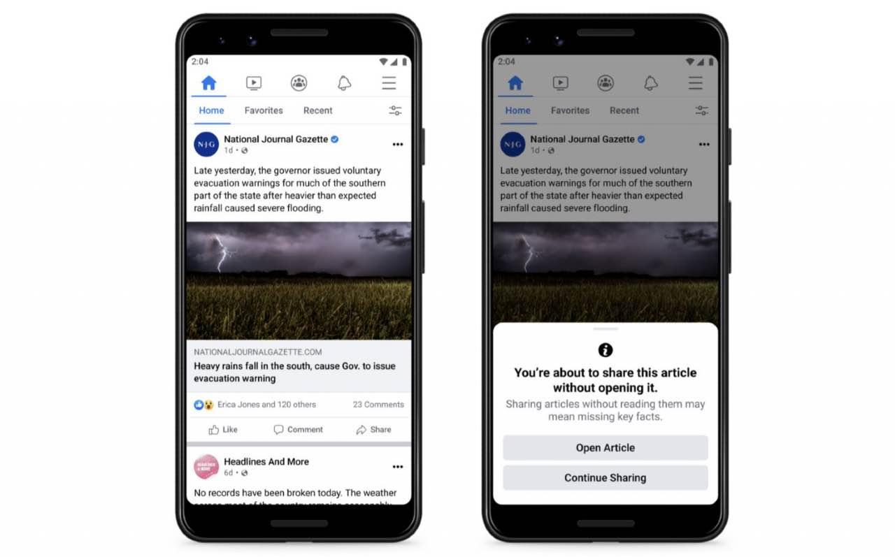 Facebook in guerra