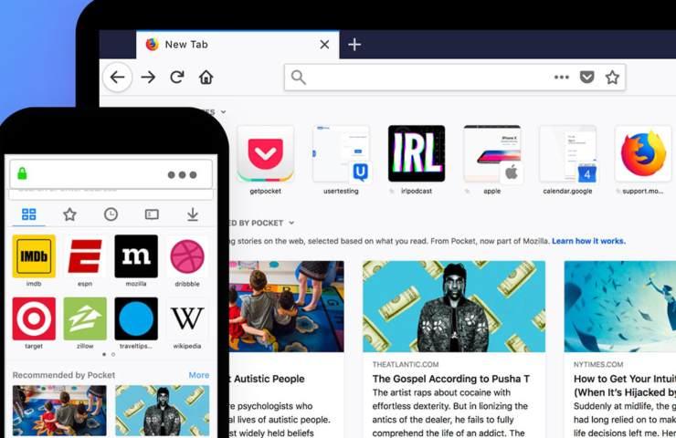 Firefox, desktop e mobile
