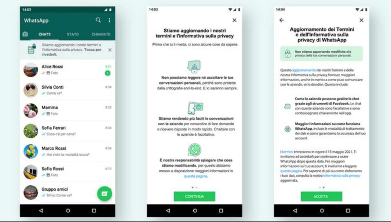 WhatsApp e i termini privacy (Foto La Stampa)