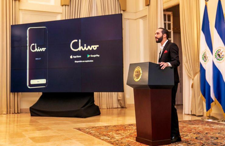 Bitcoin, il presidente Bukele alla presentazione di Chivo (twitter.com/PresidenciaSV)