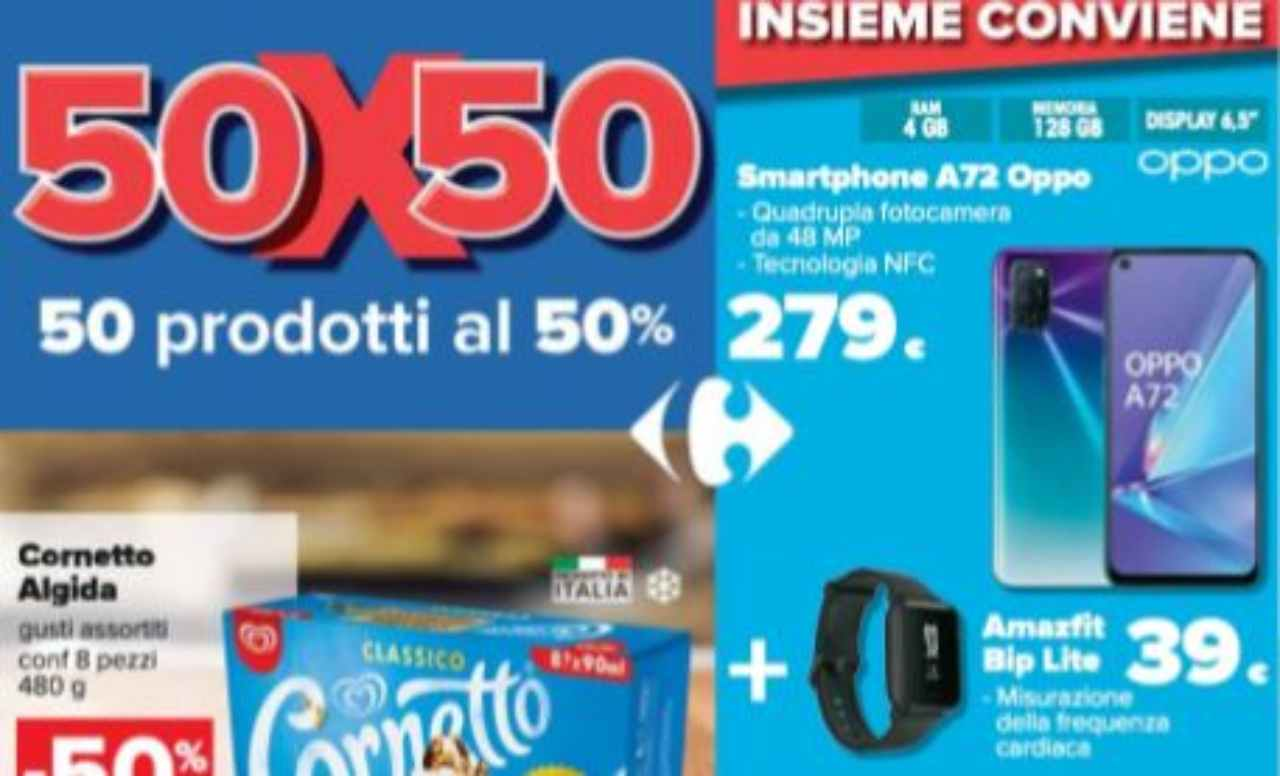 Volantino Carrefour Oppo + Amazfit