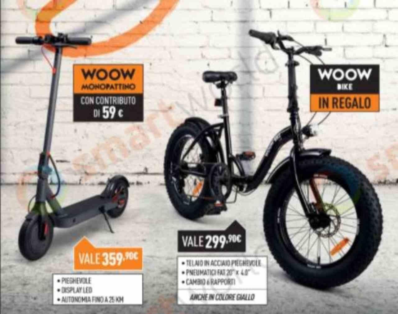 Monopattino o bicicletta in regalo da Unieuro