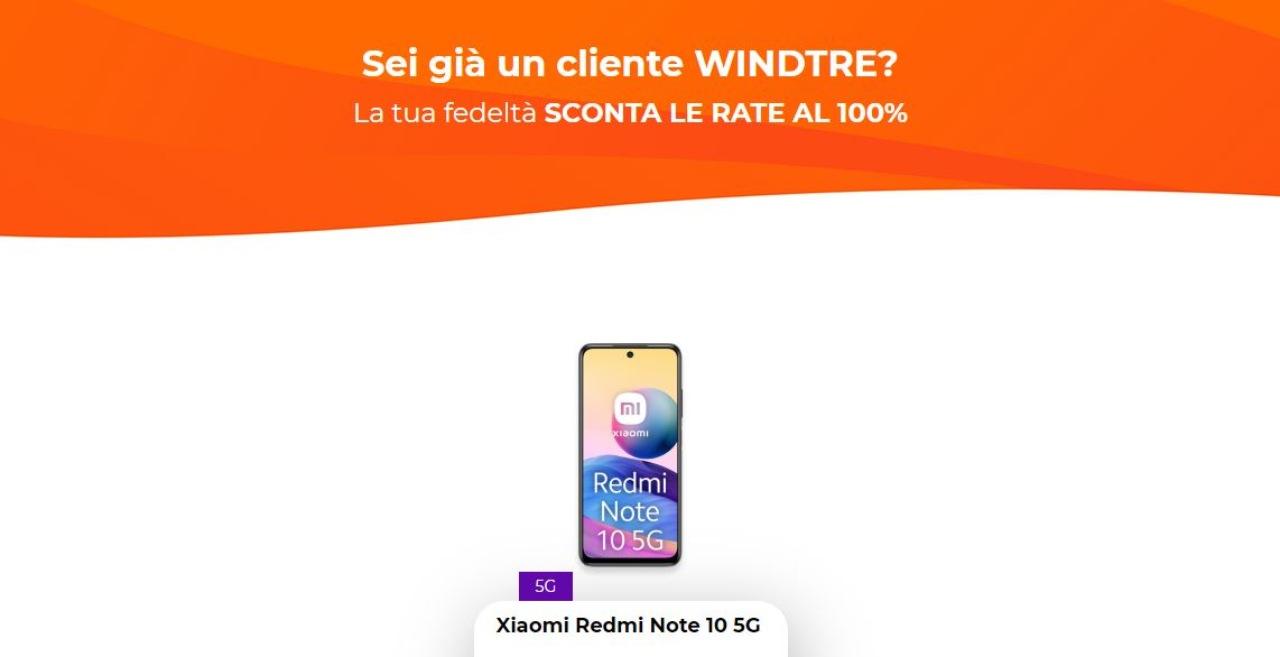 WindTre, promo smartphone