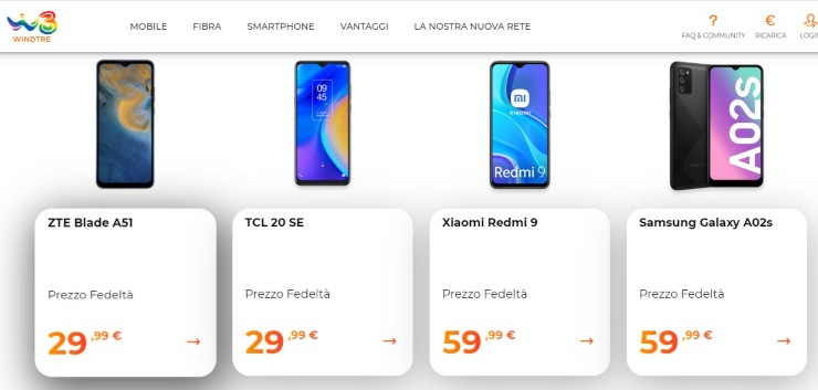 WindTre, la promo interessante sugli smartphone
