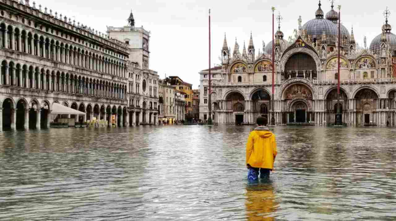 Venezia e il preoccupante studio sul clima (Foto Rai)