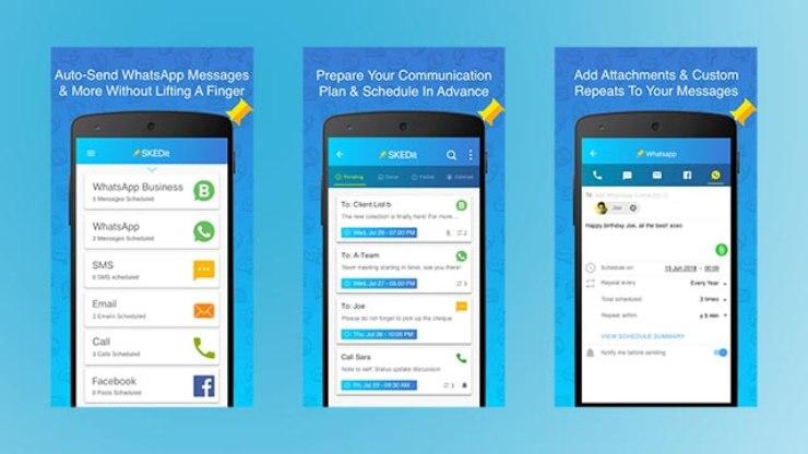 WhatsApp e Skedit per programmare messaggi (Foto Fastweb)