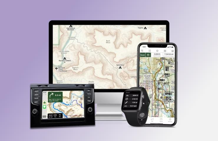 Android Auto Fuoristrada Gaia GPS (www.gaiagps.com)