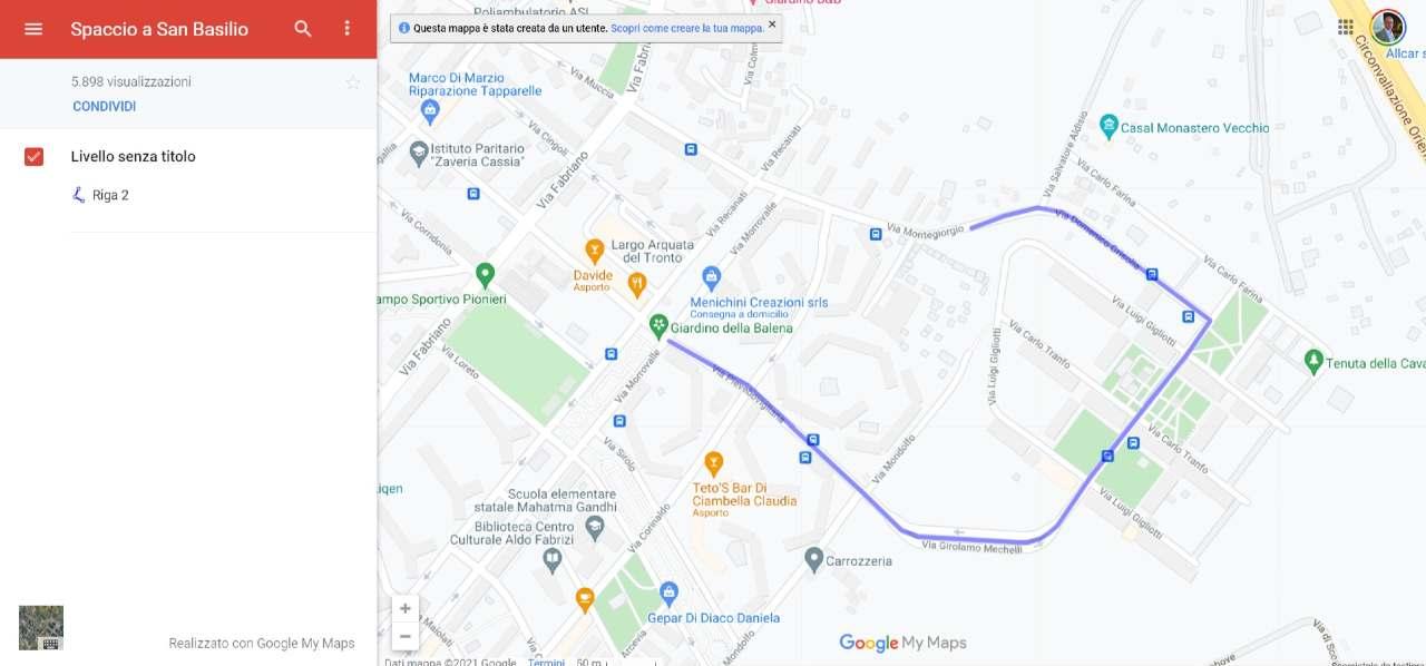 Su Google Maps sono presenti le zone di spaccio della droga