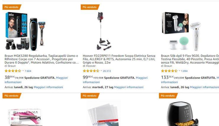Amazon Warehouse, sette giorni di sconto