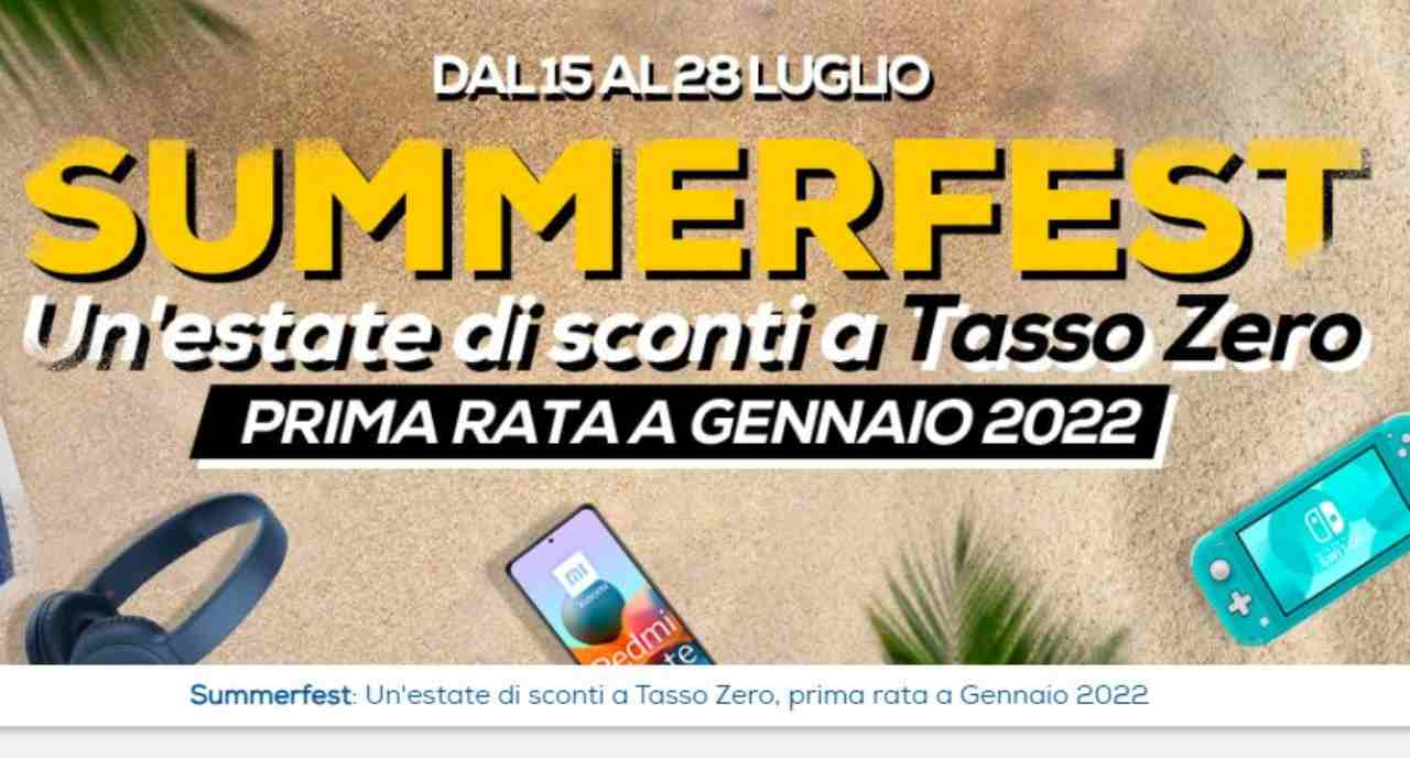 Euronics, il volantino Summerfest