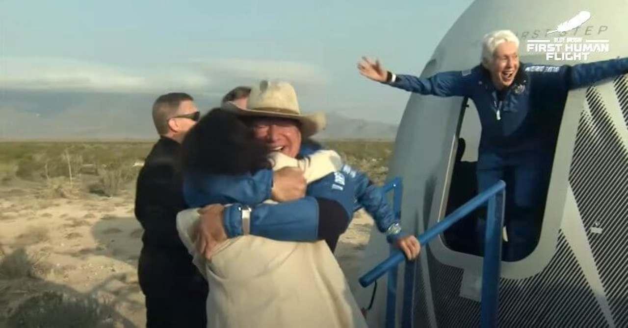 Jeff Bezos e Blue Origin, viaggio nello Spazio (Foto IlPost)