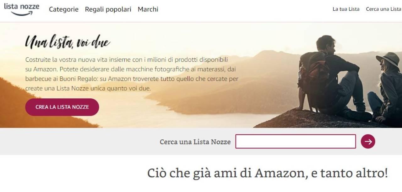 Lista nozze di Amazon