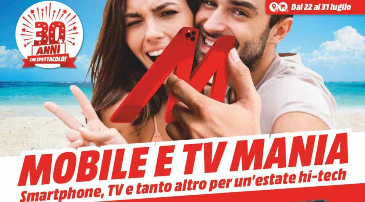 Mobile e Tv Mania, volantino Mediaworld