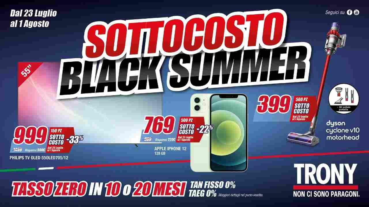 Trony Sottocosto Black Summer