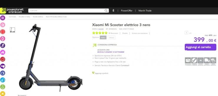 Xiaomi Mi Electric 3 già in vendita?