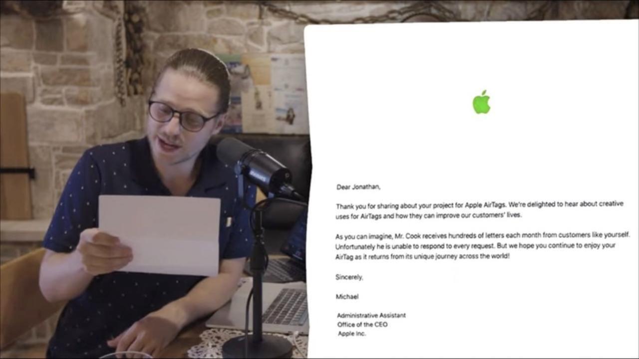 Youtuber manda AirtTag ad Apple (Foto MegaLag)
