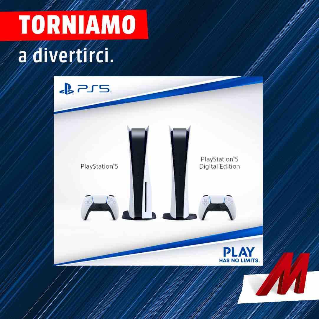 PS5 nuove disponibilità da Mediaworld