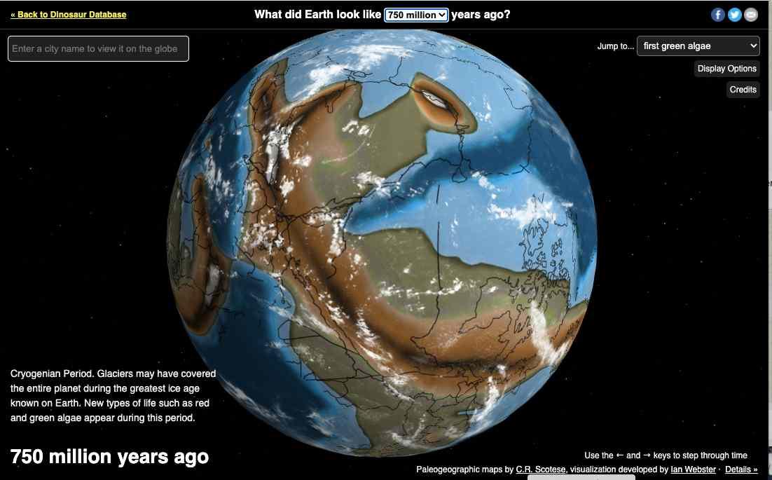 La Terra 750 milioni di anni fa