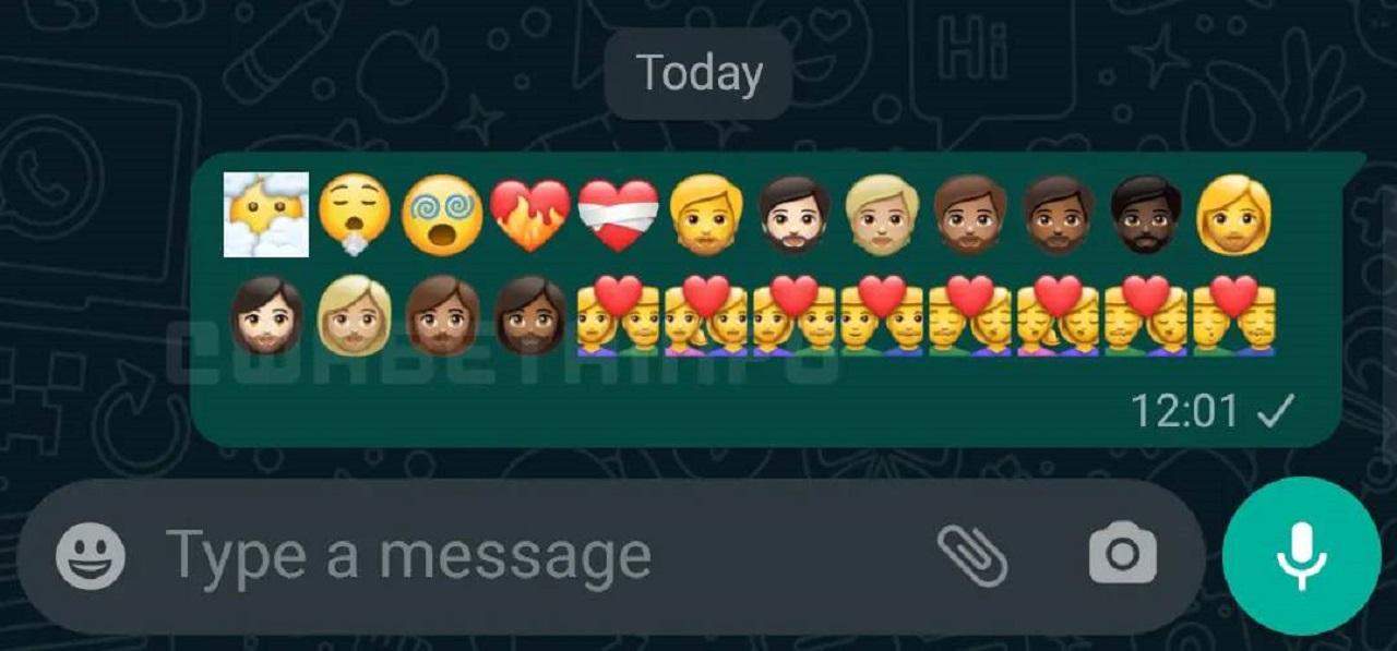 WhastApp Beta emoji