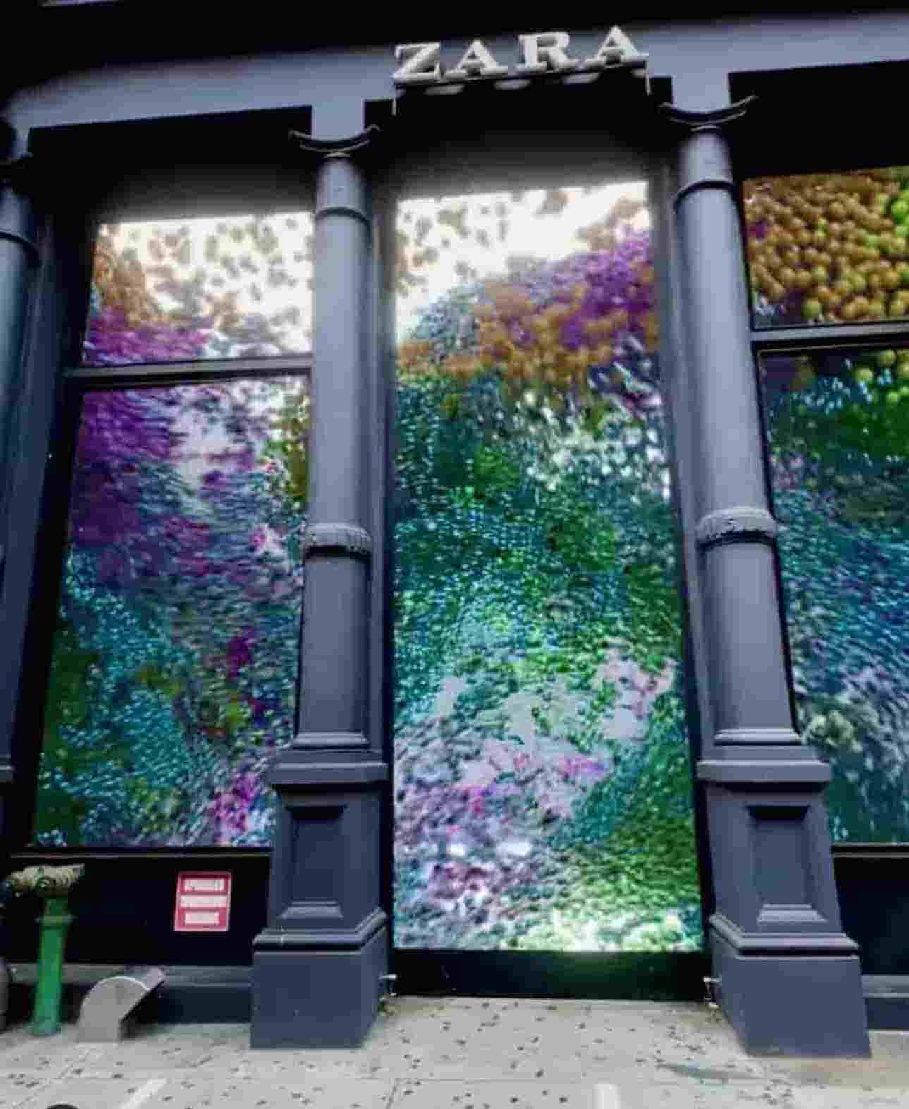 La vetrina digitale di Zara