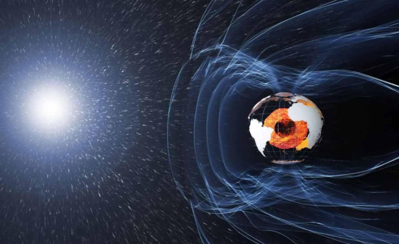 Il campo magnetico della Terra (Foto Focus)