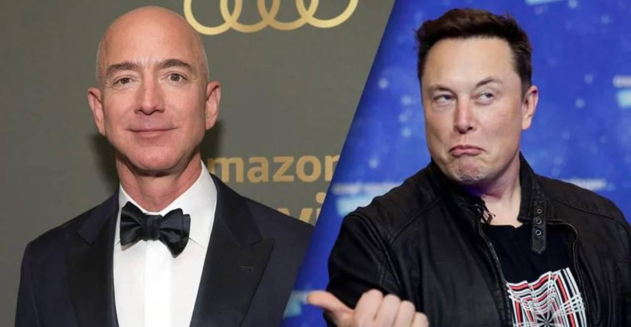 Elon Musk, vs Jeff Bezos (Foto IlSole24Ore)