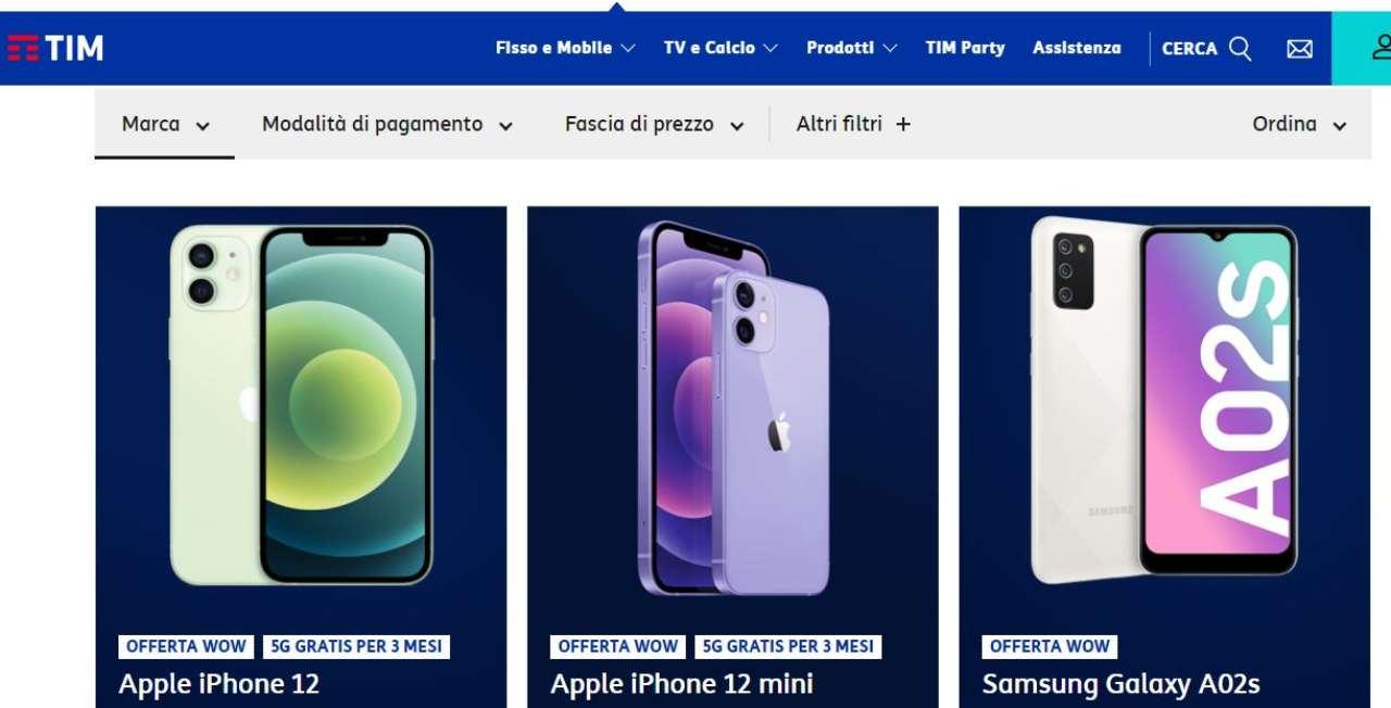 Offerta TIM smartphone