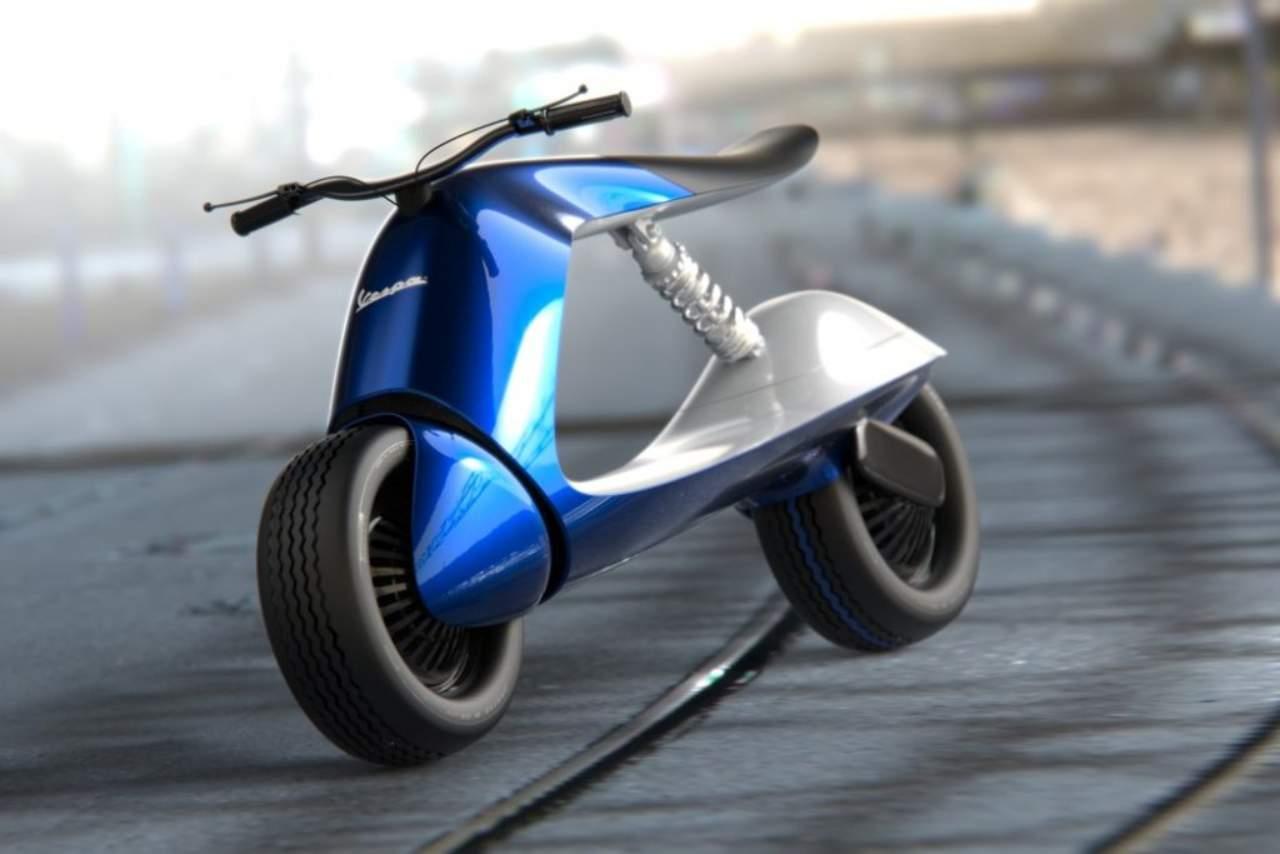 Un prototipo di Vespa Piaggio futuristico (Foto Futuroprossimo.it)