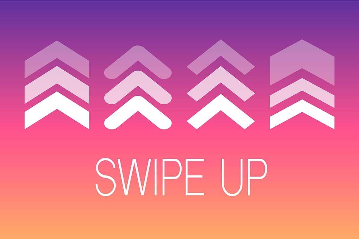 Instragram Swipe up