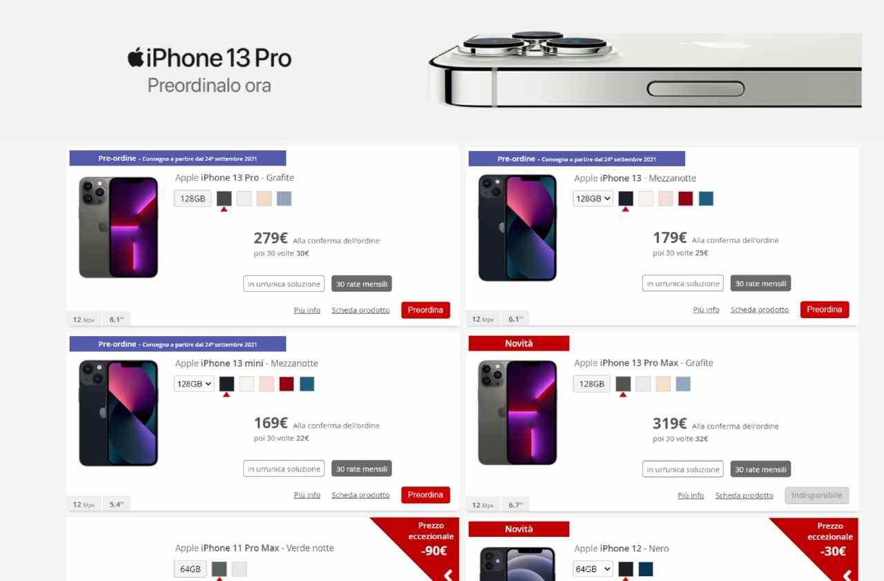 iPhone 13 a rate su Iliad