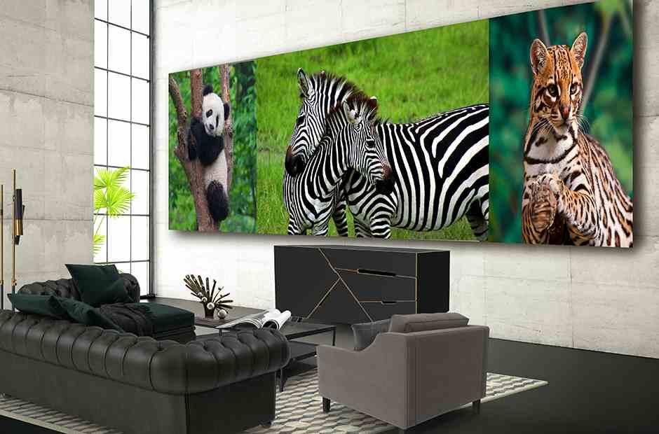 LG, il pannello può essere utilizzato per visualizzare un'immagine completa o più immagini contemporaneamente (LG)