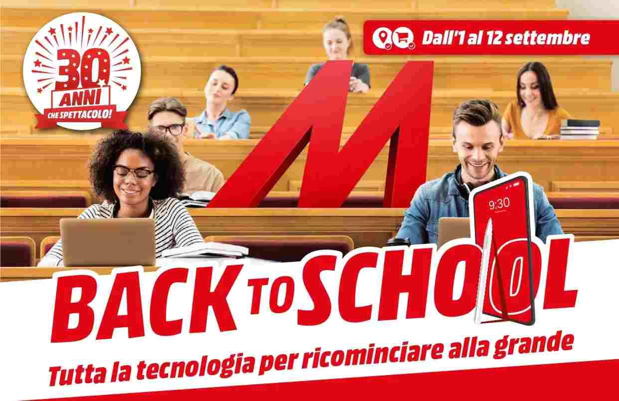 Volantino Mediaworld back to school
