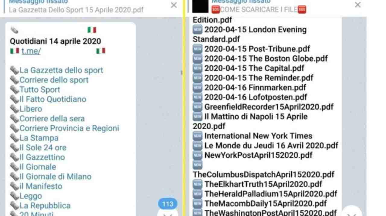 Chiusi i canali dei quotidiani di WhatsApp e Telegram (Foto Wired)
