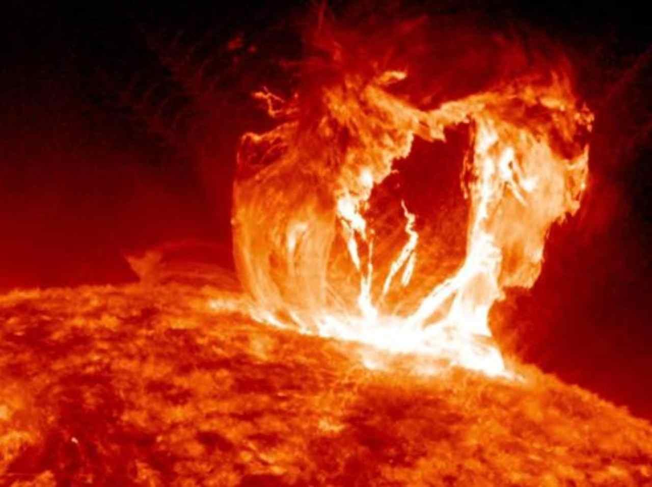 Esplosione solare (Foto Corriere.it)