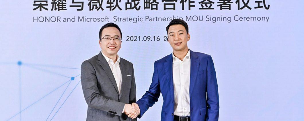 Honor, quella con Microsoft è una storica partnership (Honor)