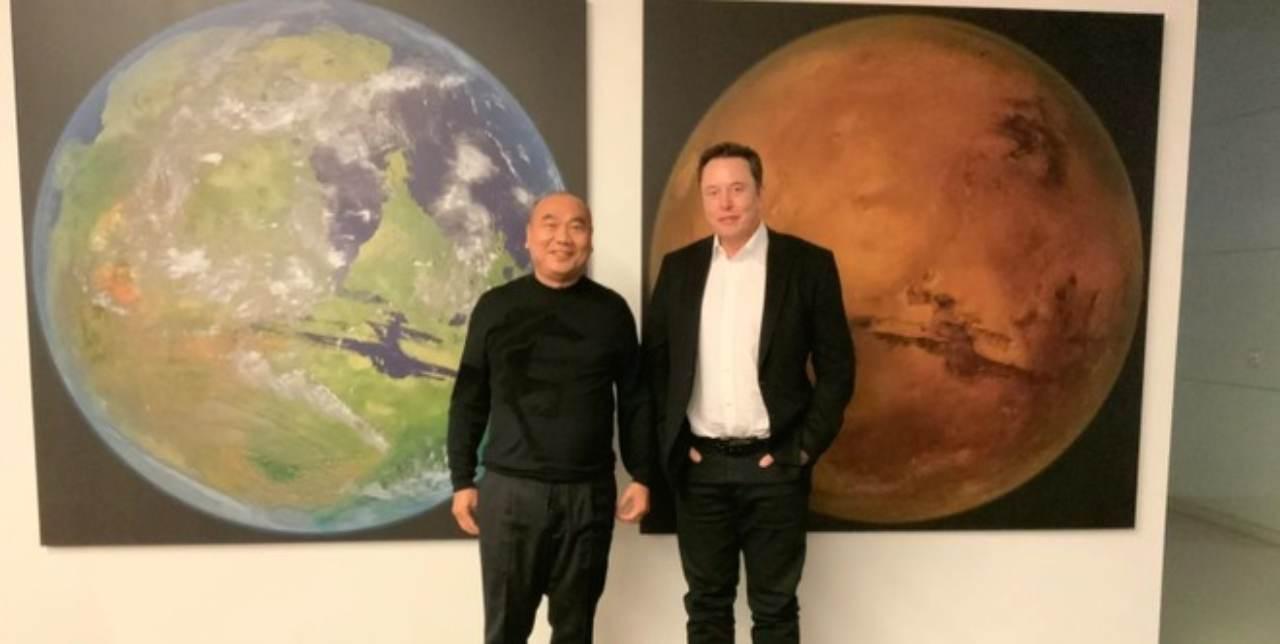 Koguan Leo e Elon Musk (Foto Hwupgrade)