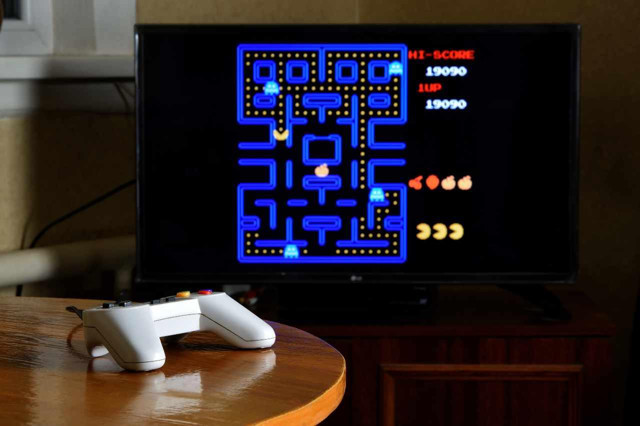 Pac Man, il mitico videogioco della Namco, creato nel lontano 1980 (Adobe Stock)