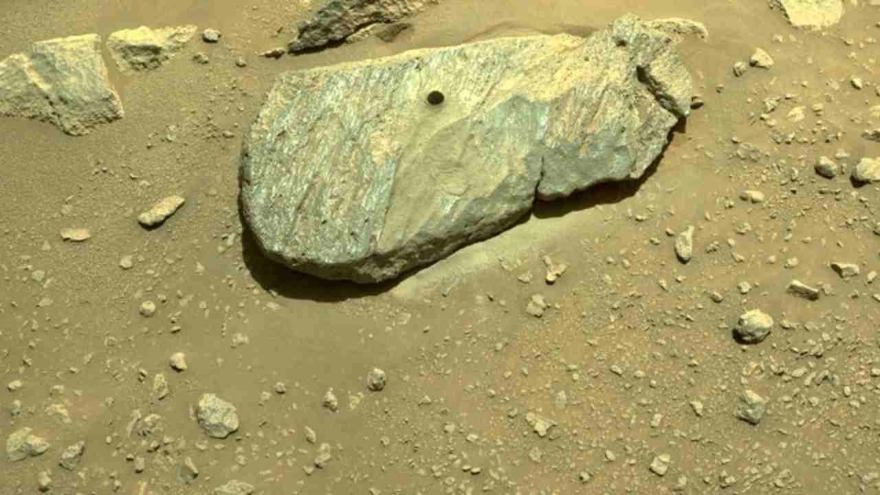 Persevrance spedisce il campione di Marte (Foto Rainews)