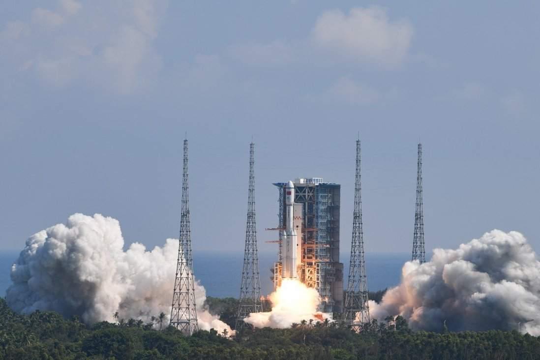 Tianzhou-3, la navicella cargo partita per la stazione spaziale cinese (scmp)