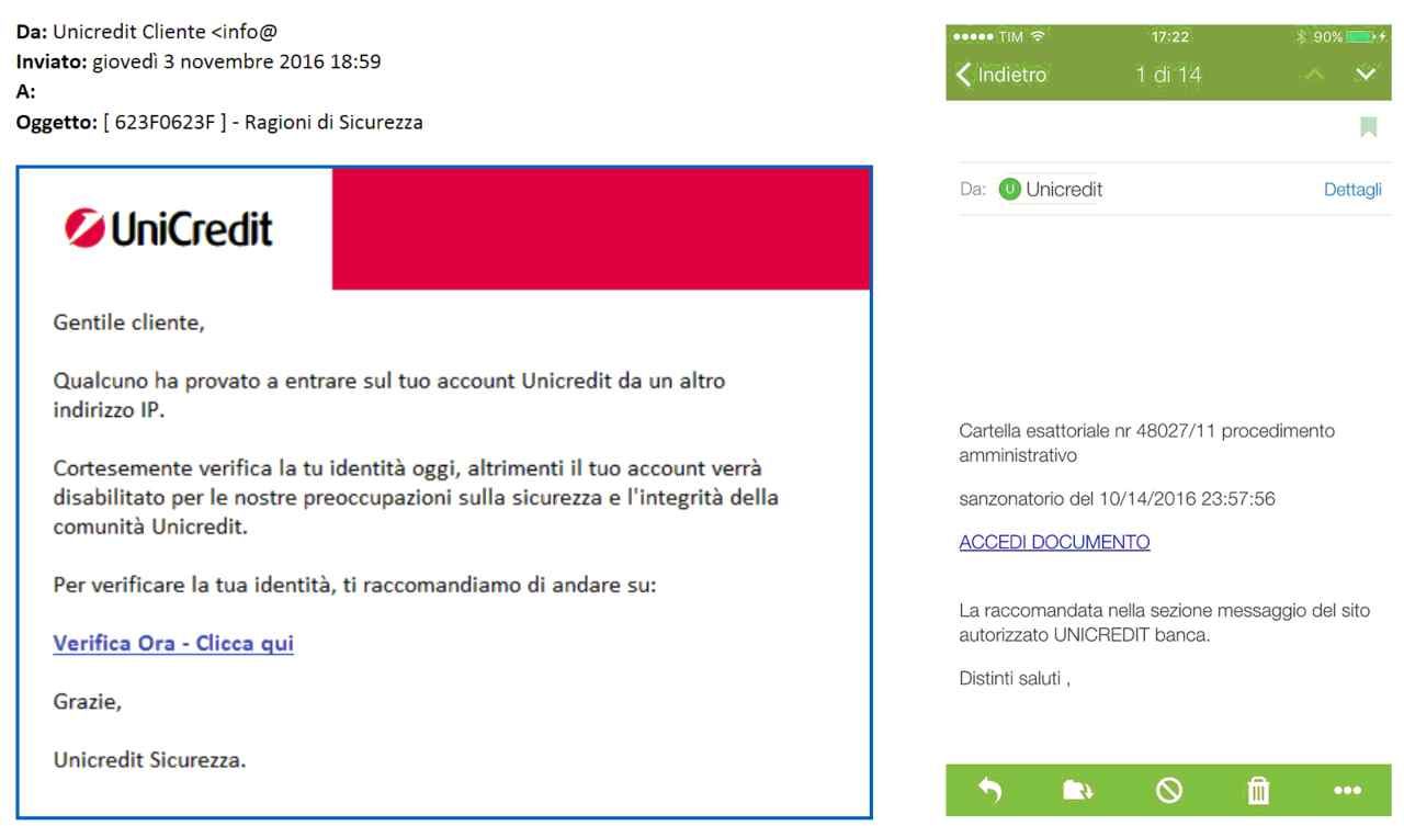 Occhio alla truffa contro Unicredit
