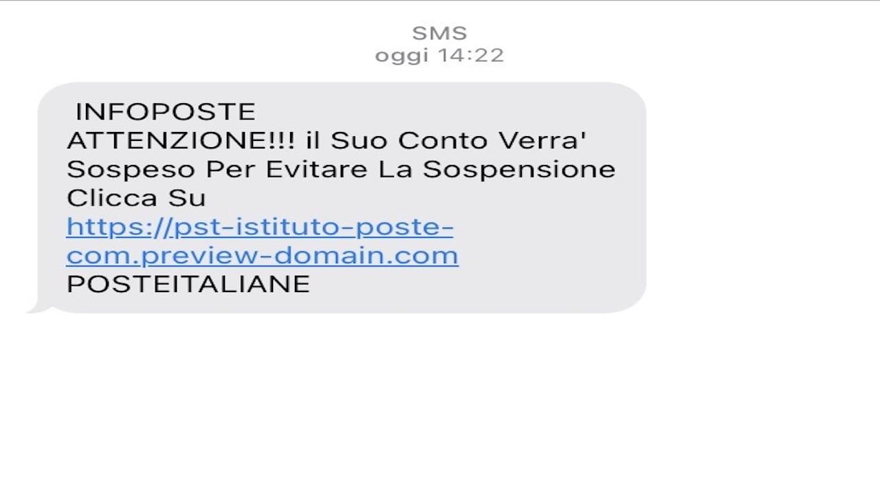 Sms truffa, questa volta tramite Poste Italiane. Attenzione ai link!