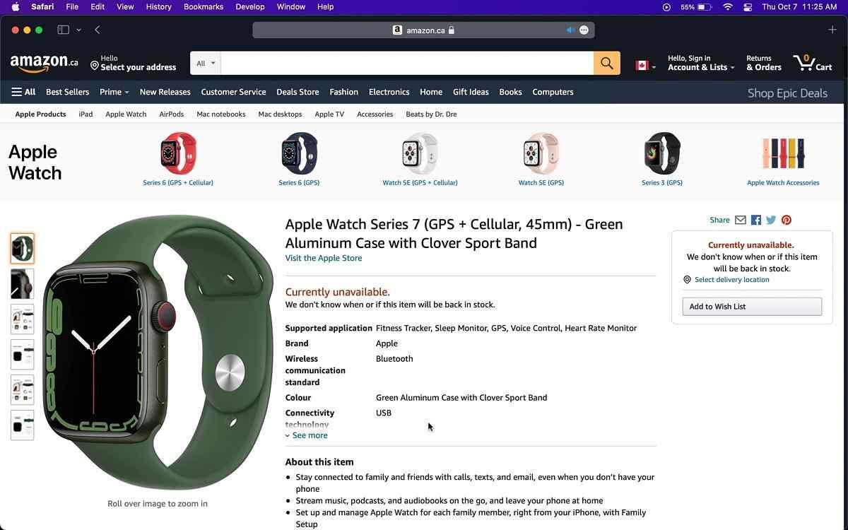 Apple Watch Series 7, parte la vendita anche su Amazon (Amazon)